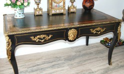 French Boule Library Table ( after image)