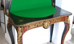 French Boule Card Table (after restoration)