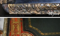 French Boule Library ( Fine detail before and after)