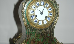 French Green boule Clock Restoration
