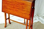 Satin Wood Drop Leaf Table