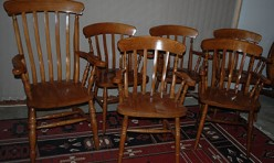 Oak Chair Set