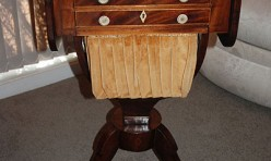 Drop leaf Needlework Table