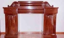 Mahogany Sideboard twin pedestal restoration