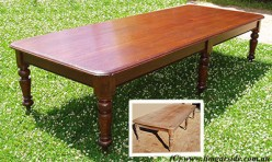 Large cedar dining table restoration