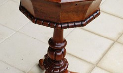 Burr Walnut Needlework Table