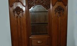 Ornate heavily carved Wardrobe Restoration